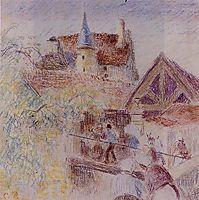 The Farm, Osny, c.1884, pissarro