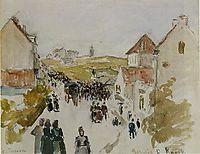 Feast Day in Knokke, 1891, pissarro