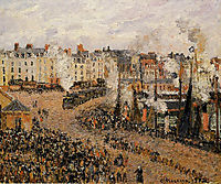 The Fishmarket, Dieppe, 1902, pissarro