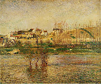 Flood in Pontoise, 1882, pissarro