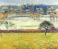 Flood, White Effect, Eragny, 1893, pissarro