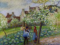 Flowering Plum Trees, c.1890, pissarro