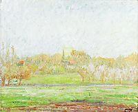 Fog in Eragny, c.1895, pissarro