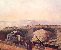 Fog in the morning-Rouen, 1896, pissarro