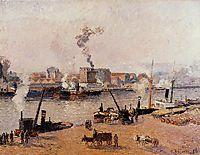 Foggy Morning, Rouen, 1896, pissarro