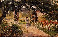 Garden at Eragny, 1899, pissarro