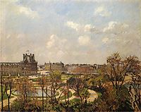 The Garden of the Tuileries, Morning, Spring, 1900, pissarro