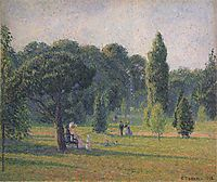 Gardens At Kew, Sunset, 1892, pissarro