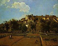 The Gardens of l-Hermitage, Pontoise, c.1867, pissarro