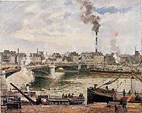 The Great Bridge, Rouen, 1896, pissarro