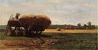 The Harvest, c.1857, pissarro