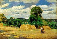 The Harvest at Montfoucault, 1876, pissarro