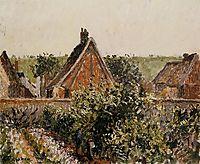 Harvest in the Orchard, Eragny, c.1899, pissarro