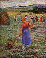 Haymakers at Eragny, 1889, pissarro