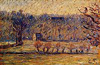 The Hill at Vaches, Bazincourt, pissarro