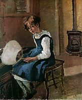 Jeanne Holding a fan, c.1873, pissarro