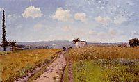 June Morning, View over the Hills over Pontoise, 1873, pissarro