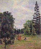 Kew Gardens, Crossroads near the Pond, 1892, pissarro