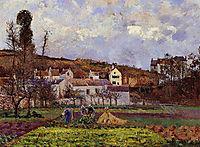 Kitchen Gardens at l-Hermitage, Pontoise, 1873, pissarro