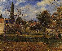 Kitchen Gardens, Pontoise, 1881, pissarro