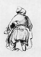 Kneeling woman, pissarro