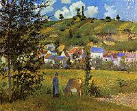 Landscape at Chaponval, 1880, pissarro