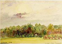 Landscape at Eragny, 1890, pissarro