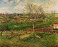 Landscape, Fields, Eragny, 1885, pissarro