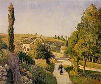 Landscape at l-Hermitage, 1874, pissarro