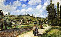 Landscape near Pontoise, the Auvers Road, 1881, pissarro