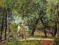 Landscape at Osny near watering, 1883, pissarro