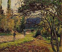 The Little Bridge, Pontoise, 1875, pissarro