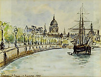 London, St. Paul-s Cathedral, 1890, pissarro