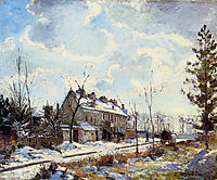 Louveciennes Road Snow Effect, 1872, pissarro
