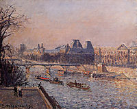 The Louvre, Afternoon, 1902, pissarro