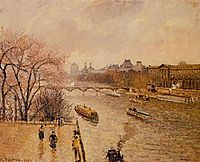 The Louvre, Afternoon, Rainy Weather, 1900, pissarro
