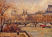 The Louvre, Morning, 1903, pissarro