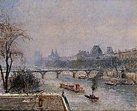 The Louvre, Morning, Snow Effect, 1903, pissarro