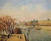 The Louvre, Morning, Sun, 1901, pissarro