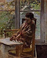 Lucien Pissarro in an Interior, c.1875, pissarro