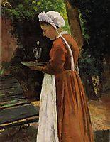 The Maidservant, 1867, pissarro