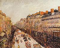 Mardi Gras on the Boulevards, 1897, pissarro