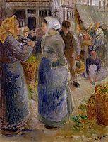 The Market, c.1883, pissarro