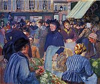 The Market at Gisors, 1899, pissarro