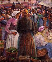 Market at Pontoise, 1895, pissarro