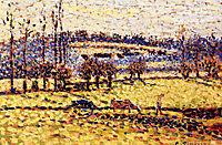 Meadow at Bazincourt, c.1886, pissarro