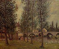 The Moret Bridge, 1888, pissarro