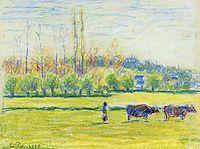 Near Eragny, c.1887, pissarro