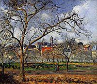 On Orchard in Pontoise in Winter, 1877, pissarro