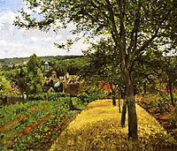 Orchards at Louveciennes, 1872, pissarro